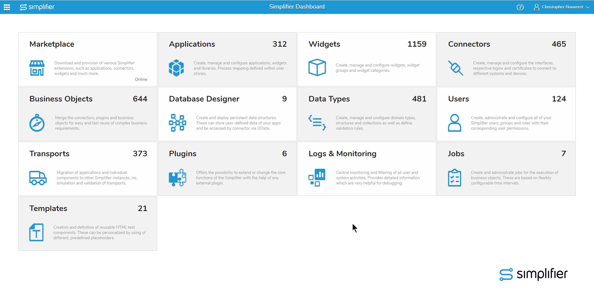 Simplifier Dashboard Release 5.5